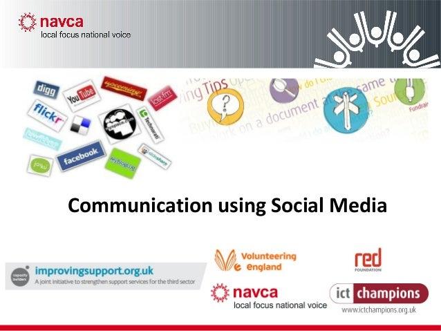 Communication using Social Media