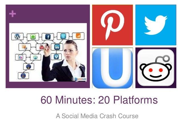 + 60 Minutes: 20 Platforms A Social Media Crash Course