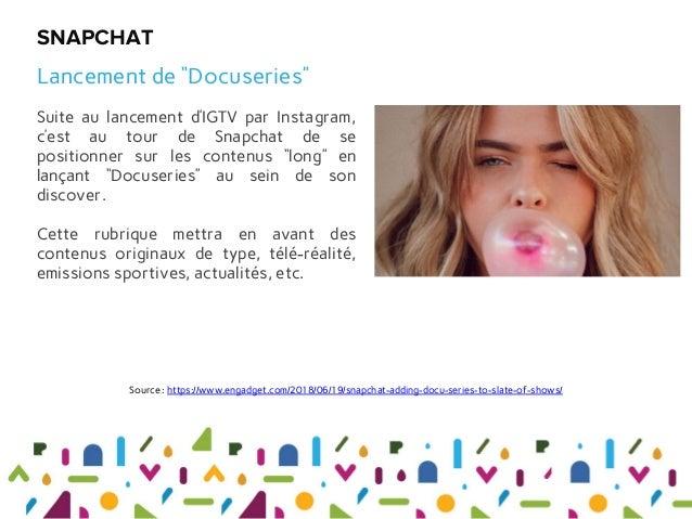 """Suite au lancement d'IGTV par Instagram, c'est au tour de Snapchat de se positionner sur les contenus """"long"""" en lançant """"D..."""