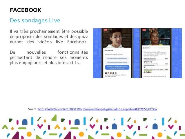 Il va très prochainement être possible de proposer des sondages et des quizz durant des vidéos live Facebook. De nouvelles...