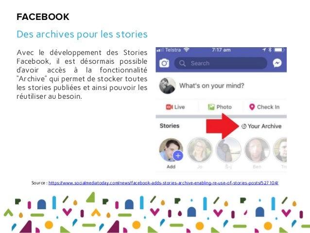 """Avec le développement des Stories Facebook, il est désormais possible d'avoir accès à la fonctionnalité """"Archive"""" qui perm..."""