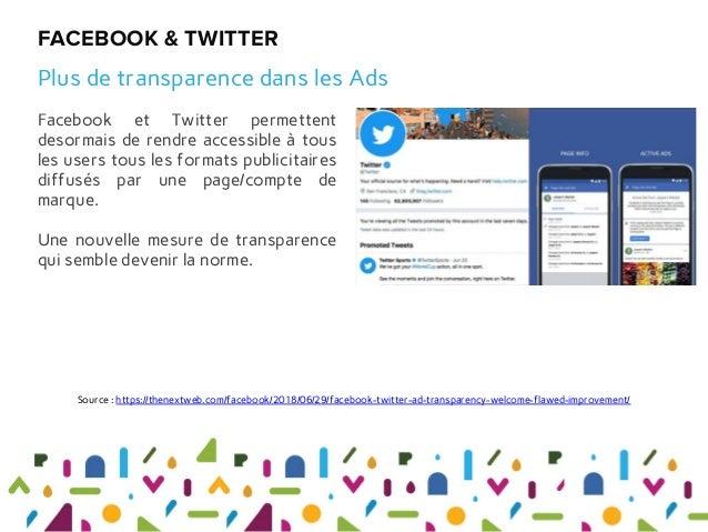 Facebook et Twitter permettent desormais de rendre accessible à tous les users tous les formats publicitaires diffusés par...