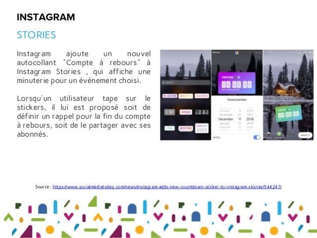 """Instagram ajoute un nouvel autocollant """"Compte à rebours"""" à Instagram Stories , qui affiche une minuterie pour un événemen..."""