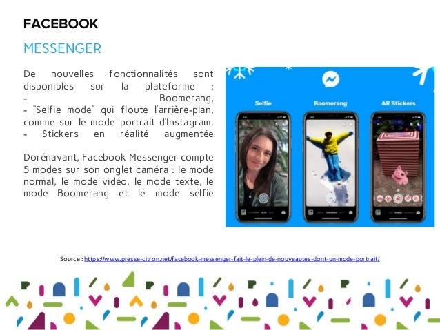 """De nouvelles fonctionnalités sont disponibles sur la plateforme : - Boomerang, - """"Selfie mode"""" qui floute l'arrière-plan, ..."""