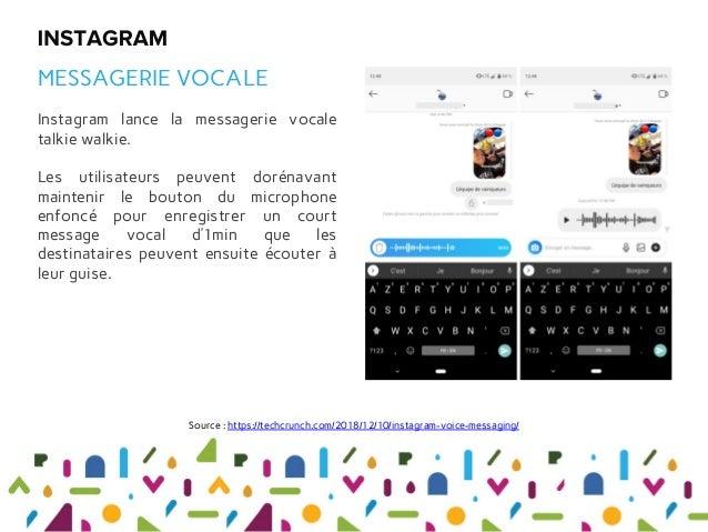 Instagram lance la messagerie vocale talkie walkie. Les utilisateurs peuvent dorénavant maintenir le bouton du microphone ...