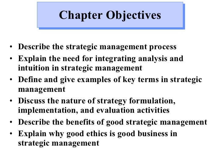 key concepts in strategic management This definition explains the meaning of strategic management, a planning  it  also aids decision-makers by analyzing key aspects of their organizational.