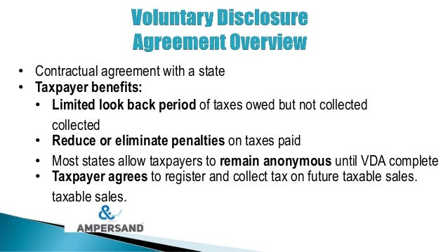 Voluntary Disclosure Agreements Demystified