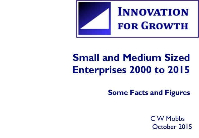 Small and Medium Sized Enterprises 2000 to 2015 Some Facts and Figures C W Mobbs October 2015