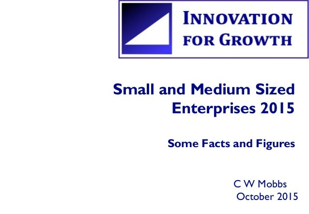 Small and Medium Sized Enterprises 2015 Some Facts and Figures C W Mobbs October 2015