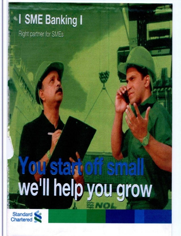 Sme banking of standard chartered bank by lecturesheets & lecturesheet.com
