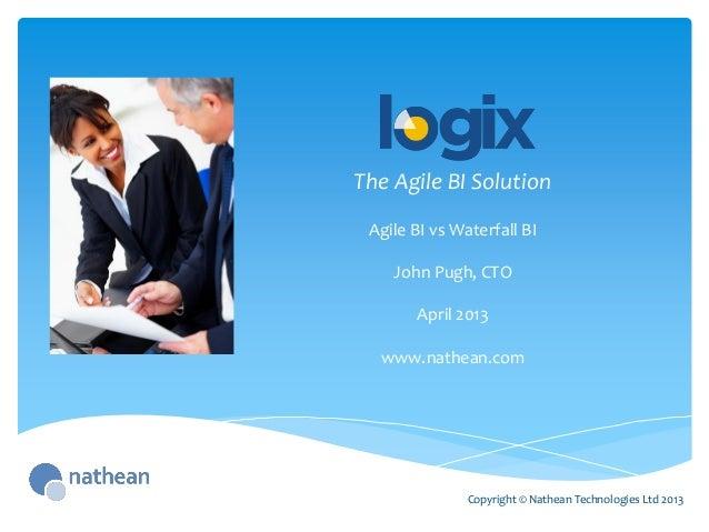 The Agile BI SolutionCopyright © Nathean Technologies Ltd 2013Agile BI vs Waterfall BIJohn Pugh, CTOApril 2013www.nathean....