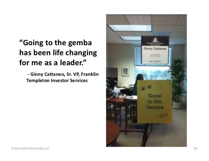 """Goingtothegemba      hasbeenlifechanging      formeasaleader.""             ‐ GinnyCattaneo,Sr.VP,Franklin..."