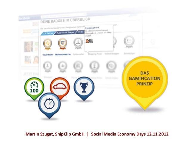 Martin Szugat, SnipClip GmbH | Social Media Economy Days 12.11.2012
