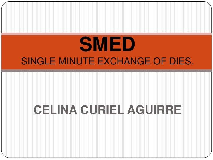 SMEDSINGLE MINUTE EXCHANGE OF DIES.<br />CELINA CURIEL AGUIRRE<br />