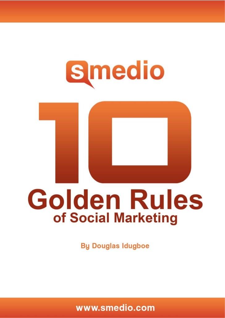 10 Rules of Social Marketing