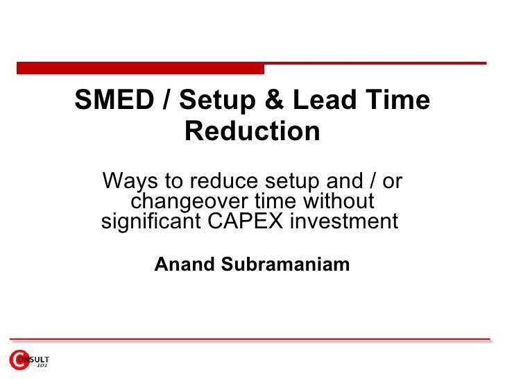 lead time reduction How can the answer be improved.