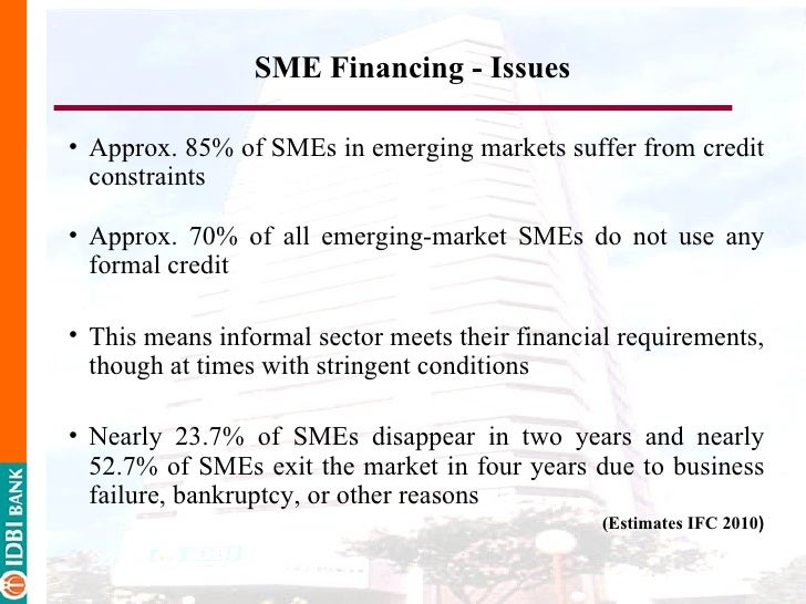 Problems of sme financing by the