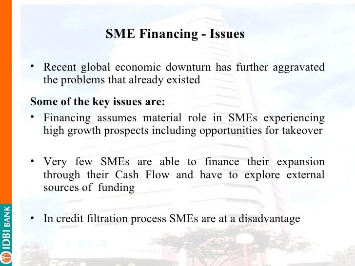 problems of sme financing by the Brown, ross and lee, neil (2014) funding issues confronting high growth smes in the uk icas, edinburgh, uk isbn 9781909883055 originally available.