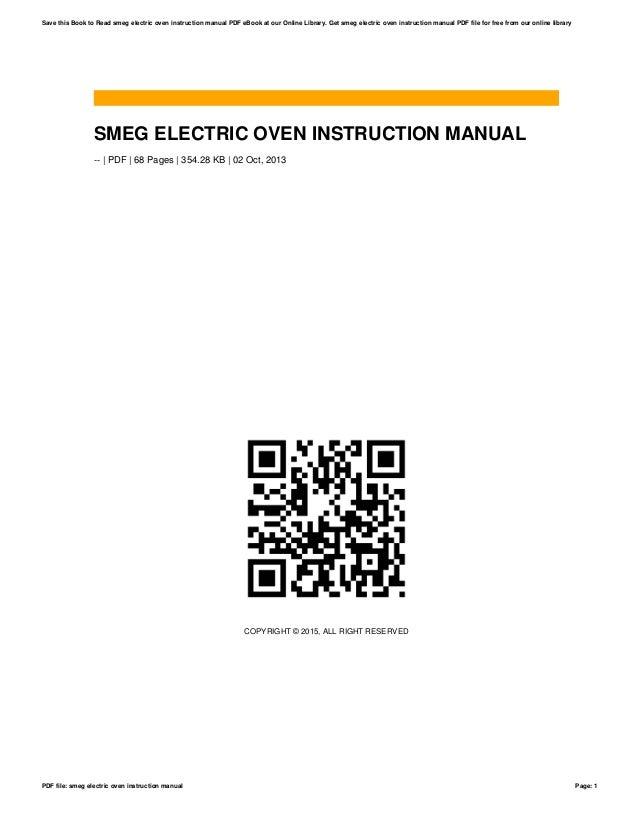 smeg electric oven instruction manual rh slideshare net Automobile Owners Manual smeg instruction manual oven