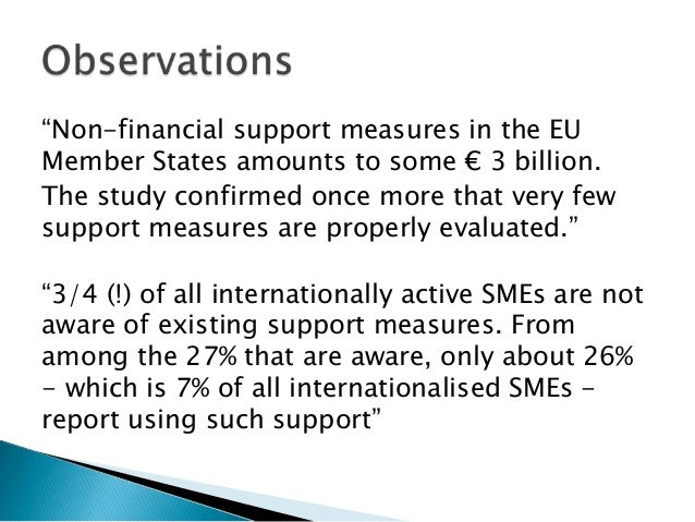 barriers to internationalisation of smes in Smes engaged in international activities:  external barriers to internationalisation ill closing speeches from the greek authorities and the oecd 114 annex 3.