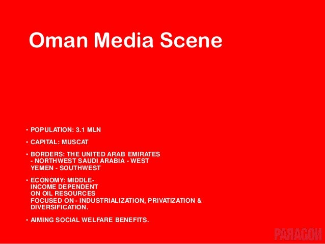 • TV is leading with highest reach, followed by Internet. • Internet reach is growing really fast. • Oman has low print & ...