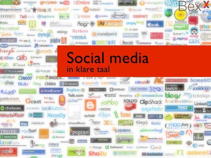 Social mediain klare taal