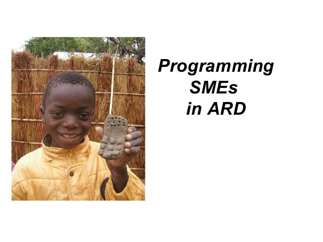 Programming SMEs in ARD