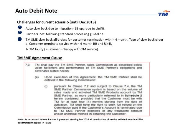 Sme partner update march auto debit note and documentation guideline – Letter of Debit Note