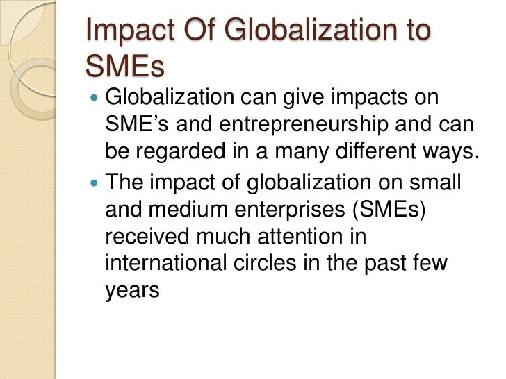 impact of globalization on small business