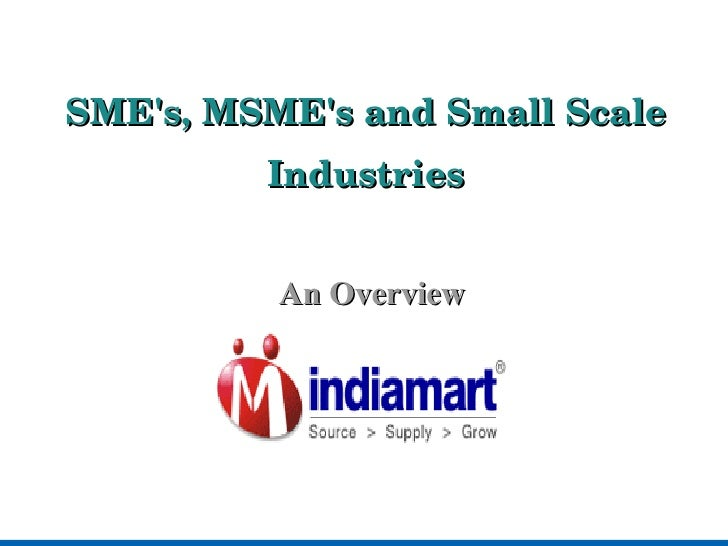 business and small scale industries