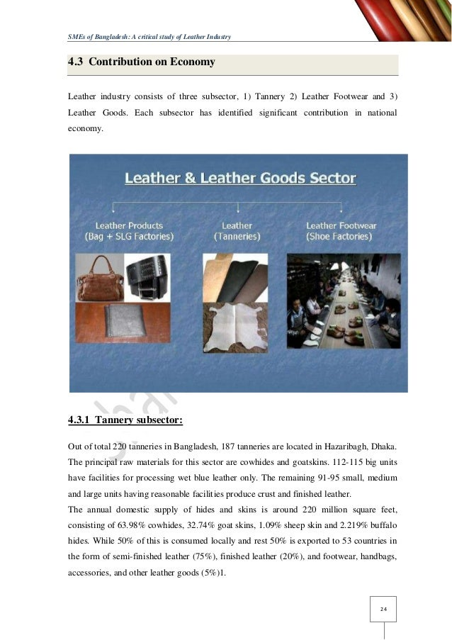 leather industry the contribution to the Assignment # 01 contribution of agriculture assignment # 01 contribution of agriculture, industries and service sector industry sector's contribution has.