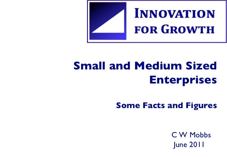 Small and Medium Sized Enterprises Some Facts and Figures C W Mobbs  June 2011