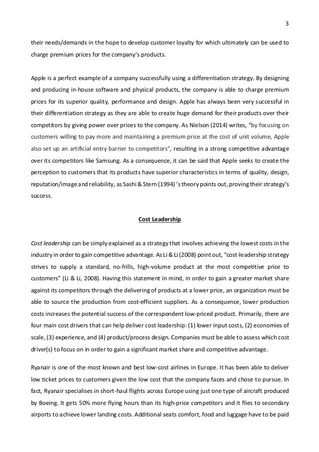 strategic management essay porter s generic strategies and strategi fulfilling 3