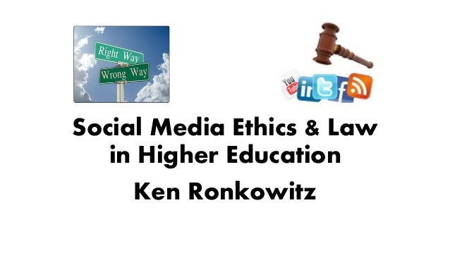 Social Media Ethics & Law in Higher Education Ken Ronkowitz
