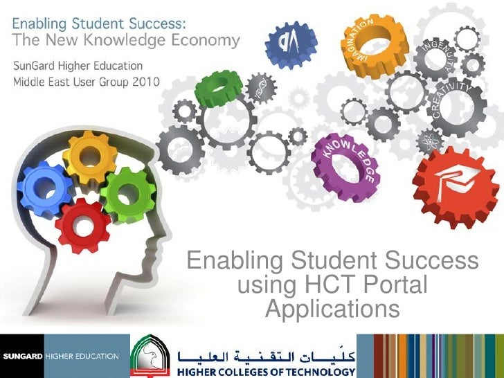 Enabling Student Success using HCT Portal Apps