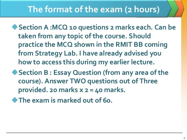 exam question and answer on market