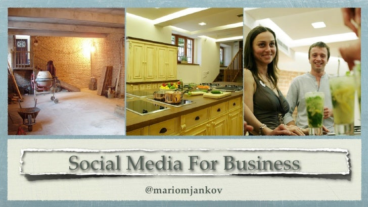 Social Media For Business         @mariomjankov
