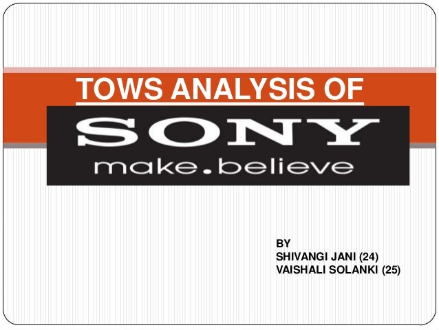 TOWS ANALYSIS OF  BY SHIVANGI JANI (24) VAISHALI SOLANKI (25)
