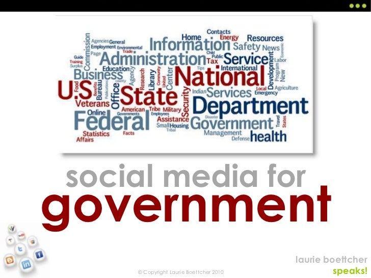 social media for<br />government<br />
