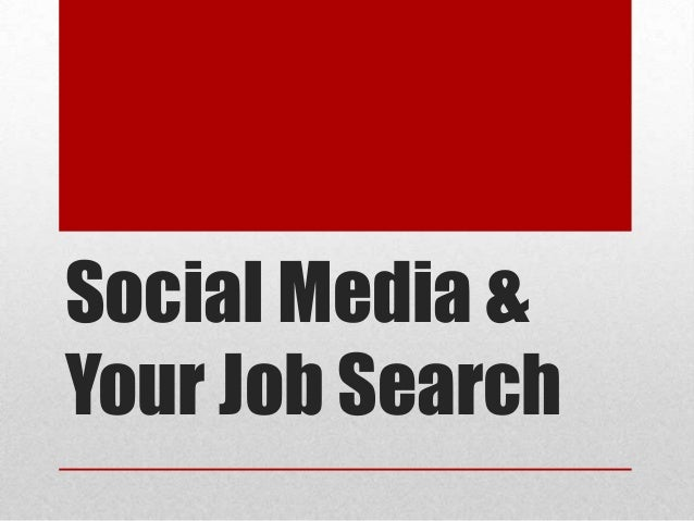 Social Media & Your Job Search