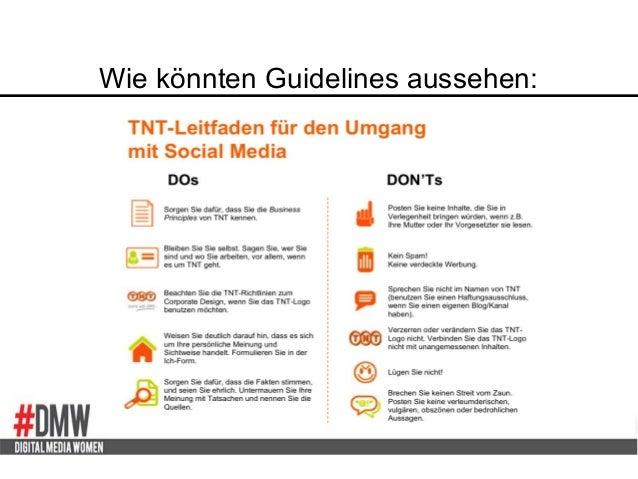 Wie könnten Guidelines aussehen: