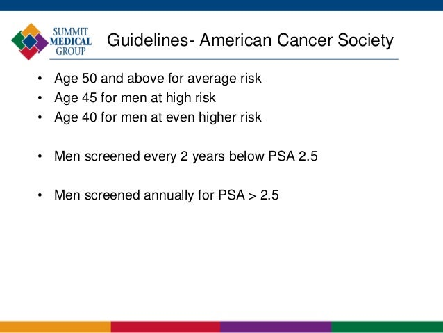 Prostate cancer and screening 15 guidelines american cancer society toneelgroepblik Choice Image