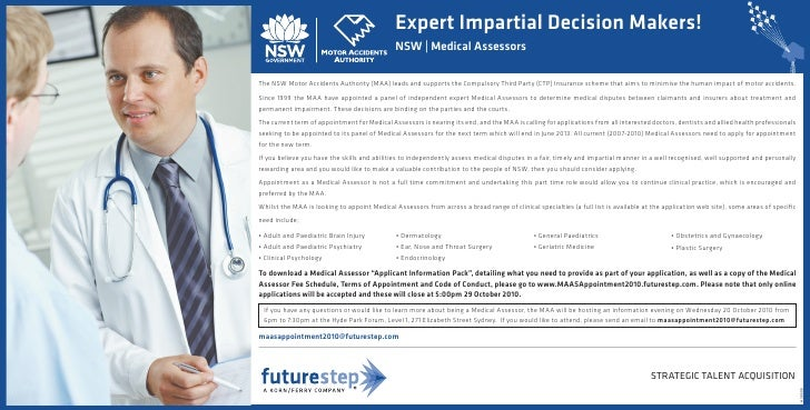 Expert Impartial Decision Makers!                                               NSW | Medical Assessors  The NSW Motor Acc...