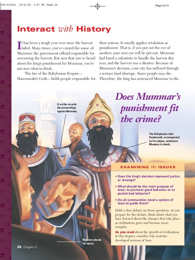 the hammurabi code capital punishment and the criminal justice system The code of hammurabi is a well the code issues justice following the complete 1904 english translation of the code of hammurabi hammurabi's code.