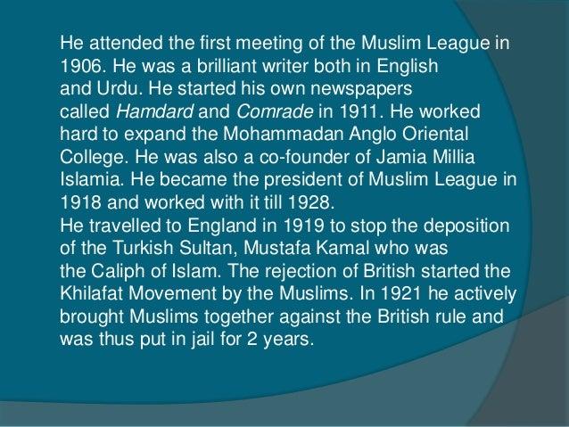 essay on maulana mohammad ali johar in english