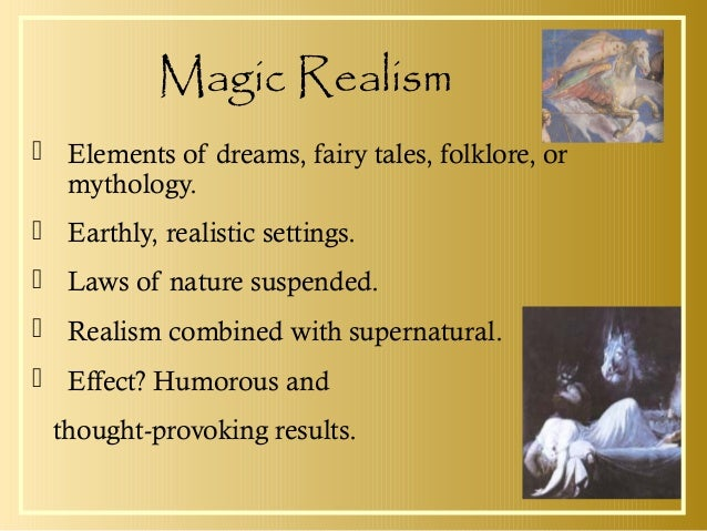 magical realistic look description article sample