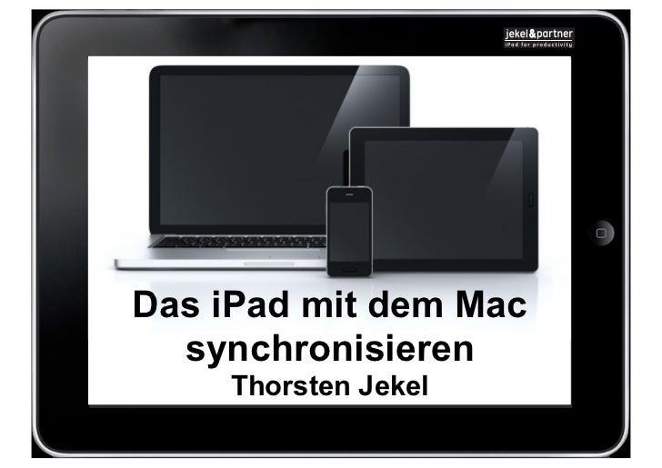 Das iPad mit dem Mac  synchronisieren    Thorsten Jekel