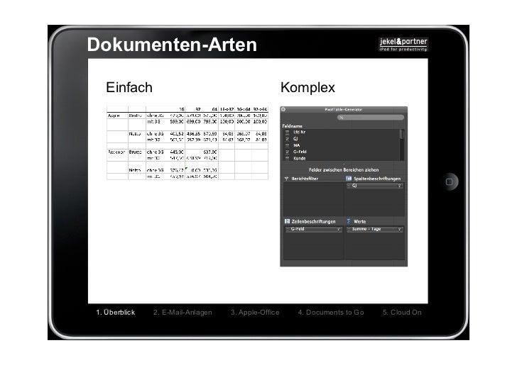 Dokumenten-Arten   Einfach                                           Komplex1. Überblick   2. E-Mail-Anlagen   3. Apple-Of...