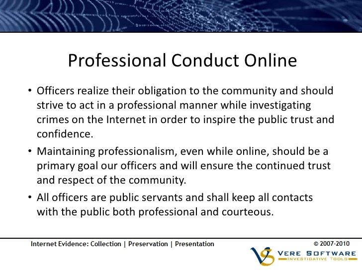 Social Media Policy Law Enforcement Investigations
