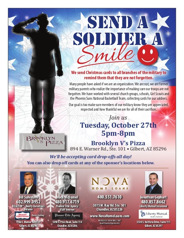 Send A Soldier A Smile Fundraiser